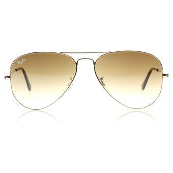 gafas ray ban aviator 3025 café degrade unisex