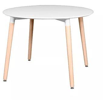 mesa nrdica redonda blanca mueble comedor diseo - Mesa Redonda Comedor