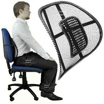Compra malla cojin soporte lumbar cuidado de espalda for Cojin lumbar silla oficina