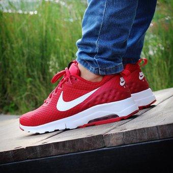 zapatos nike hombres rojos