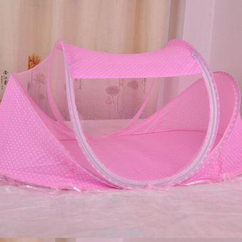 cuna para beb porttil mosquitero plegable verano infantil rosa