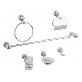 Compra juego de accesorios para ba o 1200 dica online for Juego accesorios bano