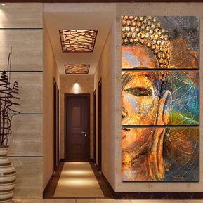 cuadro decorativo pintura al leo pcs