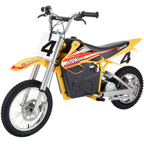 razor moto elctrica dirt rocket mx amarillo