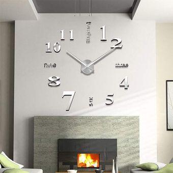 moderno grande superficie de la pared diy reloj espejo pegatinas d room decorplata