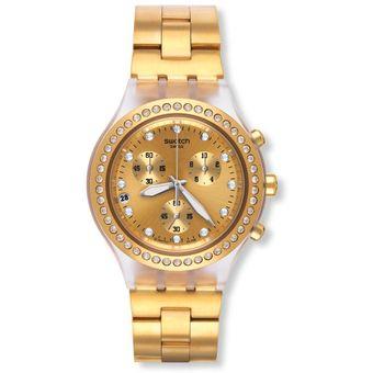 reloj swatch svckg dorado