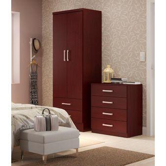 Compra Ropero Closet Bertolini 599 2 Puertas 2 Cajones