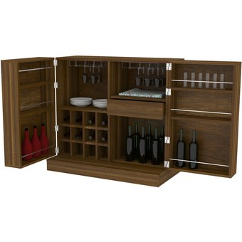 Compra mueble bar tuhome sintra caramelo online linio chile for Mueble bar minimalista