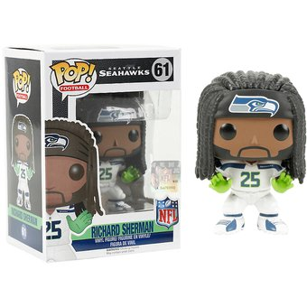 Funko Pop Richard Sherman Seatle Seahawks NFL Alcones Marino