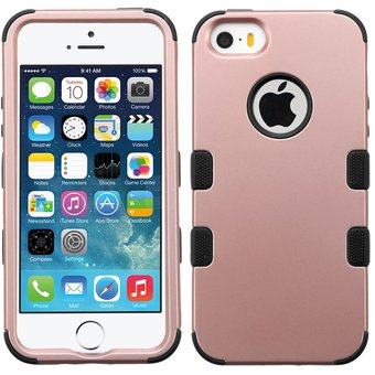 Compra funda case para iphone se iphone 5s doble protector de uso rudo rose gold con negro - Fundas iphone 5 divertidas ...