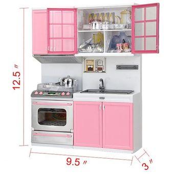 juguete mini plstico de cocina moderna utensilios de cocina color rosa para nios