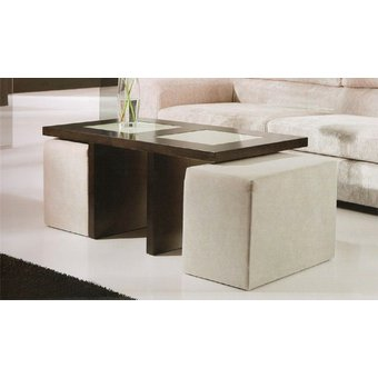 Compra mesa de centro sala con puff auxiliar online for Mesa centro puff