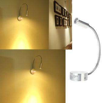led lmpara de noche lmparas de pared para lectura tubo suave ajustable w luz de espejo
