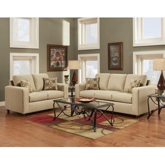 Compra juego de sala decora nimbo 3 2 cuerpos beige for Juego de muebles para sala modernos