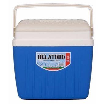 Heladera Portátil 28 Litros-Azul Con Blanco