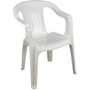 Silla blanca precio 20 descuento for Sillas blancas apilables