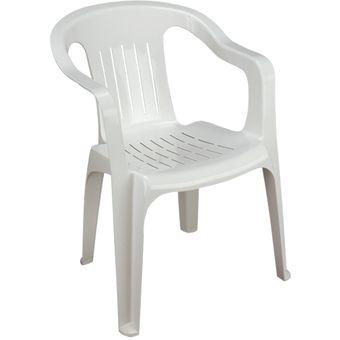 Compra silla de pl stico apilable brexia blanca online for Silla computadora