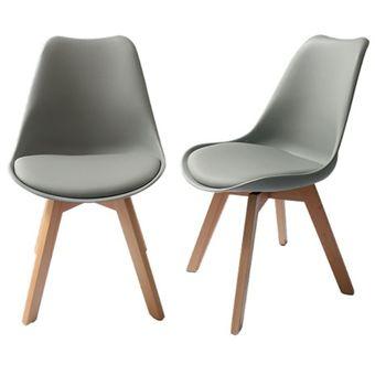 Compra juego de 2 sillas estilo eames color blanco modelo for Sillas de comedor para ninos