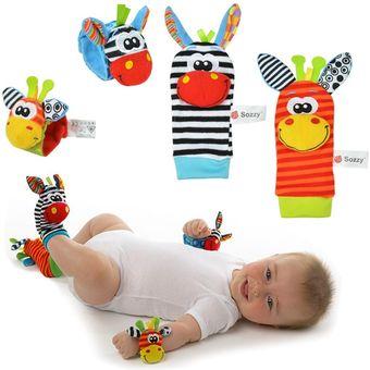 medias y manillas juguetes estimulacin bebes nio y nia sozzy
