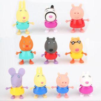 unidsset pepa cerdo rosado pvc juguetes pepa george pig familia figura de