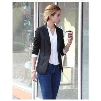 chaqueta saco de estilo clsico y elegante para mujeres color en negro