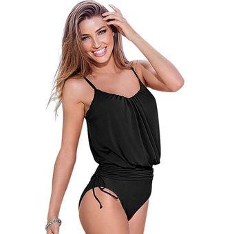 Compra traje de ba o completo para mujer negro online for Traje de bano negro