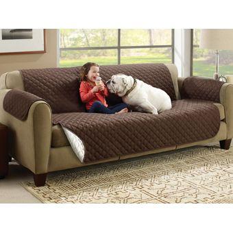 Compra funda para sofa protectora reversible cafe beige for Cobertor para sofa