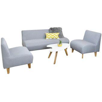 Compra juego de sala oslo plata online linio colombia for Precio de muebles para sala