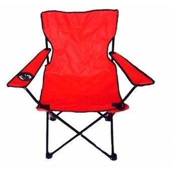 silla plegable para playa alberca camping outdoors roja
