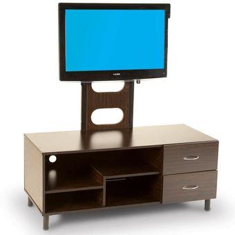 mesa para televisin boro con cajones y pedestal para pantalla