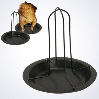 pollo parrilla asador vertical con recipiente de lata de acero al carbono de cocina