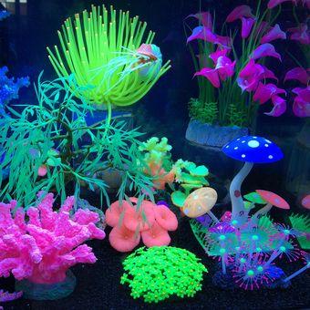 louiwill realista planta de acuario actiniae anmona de mar del acuario adornos de decoracin