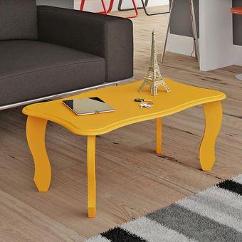 mesa de centro amarilla