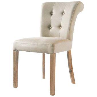 Compra silla capitonada para comedor kei beige online for Sillas cromadas para comedor