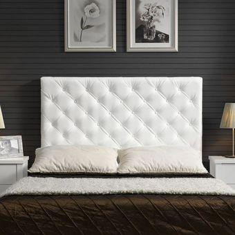 cabecero tapizado base cama doble