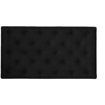 cabecero tapizado base cama queen rombos negro