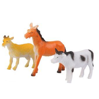juguetes de plastico diseo animales del campo set piezas multicolor
