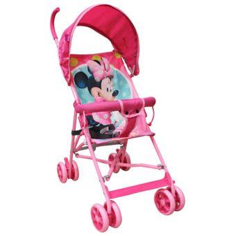 Compra disney baby coche baston minnie mouse rosado for Precios sillitas bebe para coche