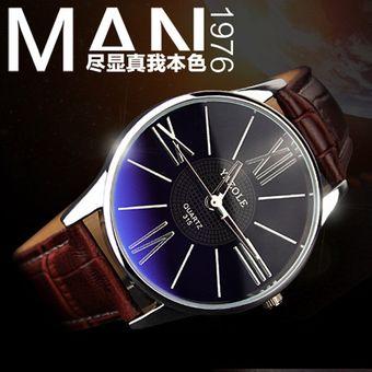 yazole marca de lujo reloj de cuarzo relojes de cuero de la manera ocasional de