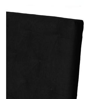 cabecero tapizado base cama semidoble rombosnegro