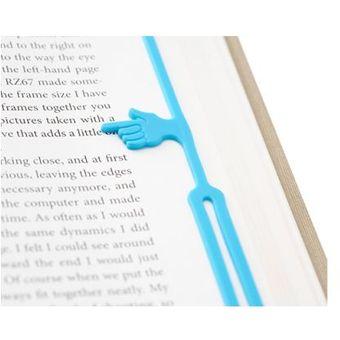 separador de libros elastico en forma de manita