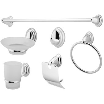 Compra set accesorios ba o 6 piezas taumm economic gris for Accesorios decoracion online