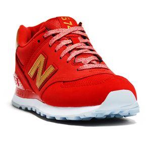 zapatillas new balance rojas mujer