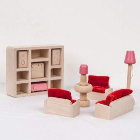 moda de madera muebles casa de muecas e