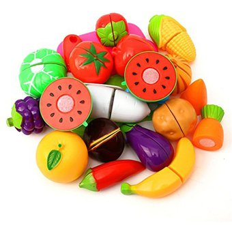 pixnor pcs juguetes para cortar la cocina de verduras de frutas comida para nios pretender regalos