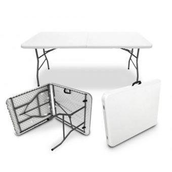 Compra mesa plegable plastico tipo portafolio largo for Mesa plegable plastico