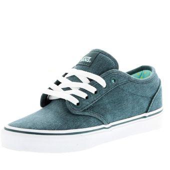 calzado deportivo vans para mujer color verde