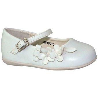 agotado zapato casual florecitas gimbo para niablanco