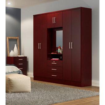 Compra Ropero Closet Bertolini 588 7 Puertas 3 Cajones ...