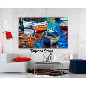 cuadro tayrona store pintura barcas 02 1 - Cuadros Grandes Dimensiones